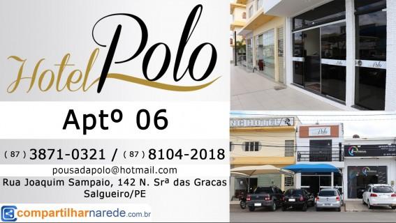 Hospedagem em Salgueiro, PE  - Hotel Polo Aptº 06 - Compartilhar na Rede