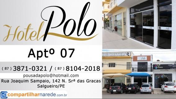 Hospedagem e Turismo em Salgueiro, PE - Hotel Polo Aptº 07 - Compartilhar na Rede