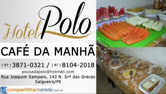 Café da Manhã em Salgueiro, PE - Hotel Polo - Compartilhar na Rede
