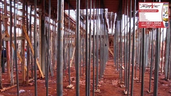 Escoramento para lajes em Serra Talhada, PE
