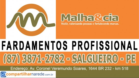 Fardamentos profissional em Salgueiro - PE, Malha & Cia