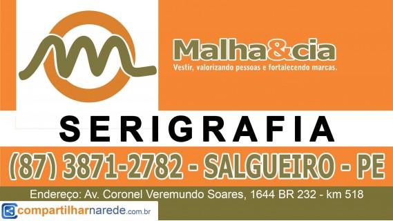 Serigrafia em Salgueiro - PE  Malha & Cia