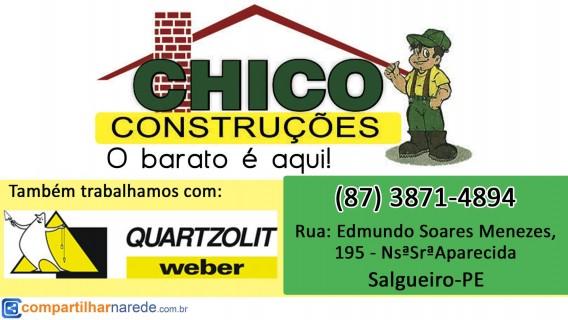 Quartzolit em Salgueiro, PE - Chico Construções - Compartilhar na Rede