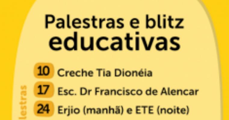 Campanha Maio Amarelo terá palestras em escolas e blitz educativas em Araripina-PE