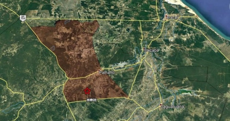 Interior do Ceará tem tremor de terra de magnitude 2,8