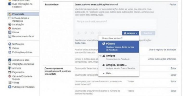 Falha no Facebook muda configuração e torna público post privado de 14 milhões