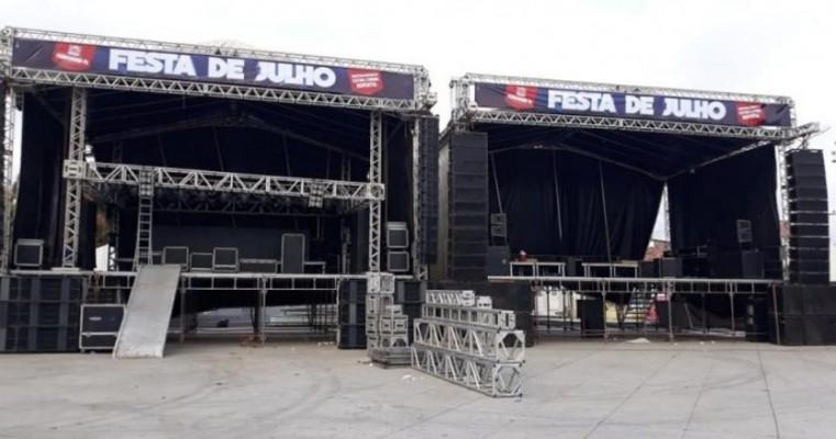 Festa de Julho de Parnamirim começa hoje com show de Dorgival Dantas e grande estrutura