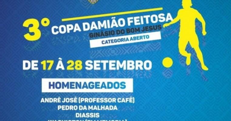 3ª Copa Damião Feitosa ocorre de 17 a 28 de setembro em Serra Talhada