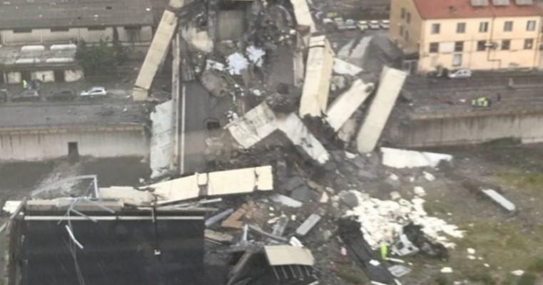 Ponte desaba na Itália e deixa dezenas de mortos
