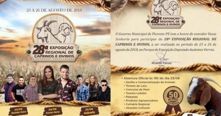 Floresta realiza a 28ª Exposição Regional de Caprinos e Ovinos