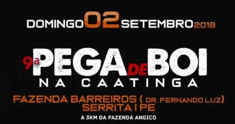 9ª Pega de Boi na Caatinga ocorre no próximo domingo na Fazenda Barreiros, em Serrita