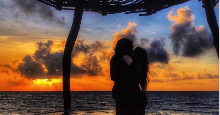 Luisa Sonza e Whindersson Nunes posam completamente nus em foto na praia