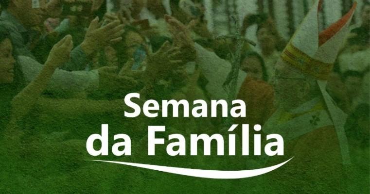NESTA QUARTA DIA 12 NA PRAÇA DA CATEDRAL  VAI ACONTECER O ENCERRAMENTO DA SEMANA DA FAMÍLIA