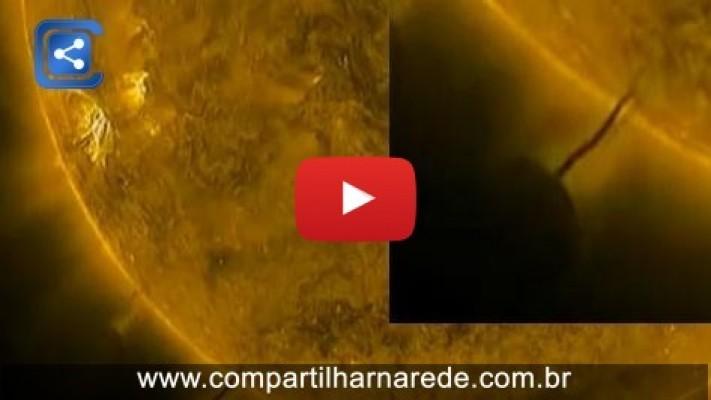 Imagens da NASA captura OVNI sugando energia solar