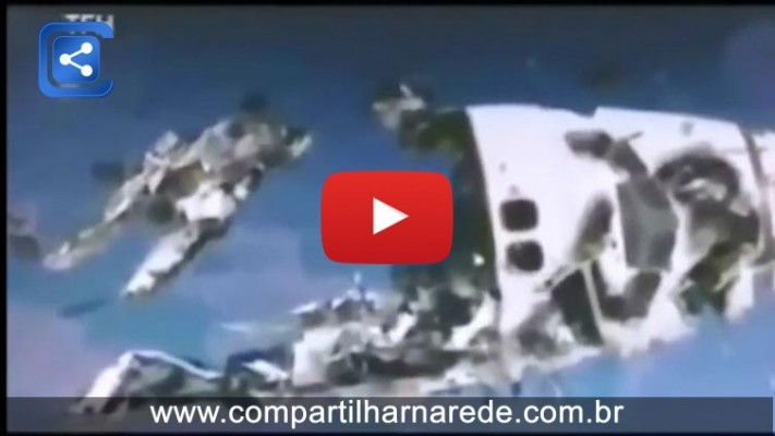 UFO ataca nave espacial da NASA