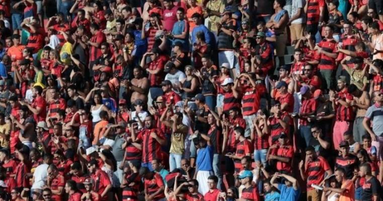 Sport esgota arquibancada frontal e deve ter casa cheia contra o Ceará