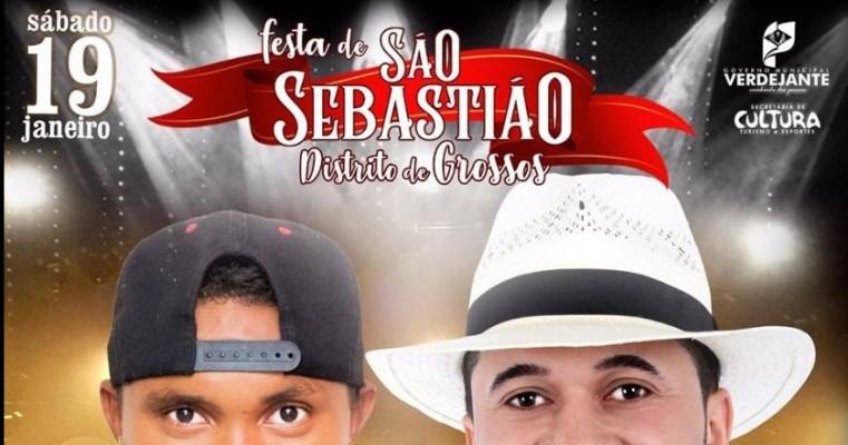 FESTA DE SÃO SEBASTIÃO NO DISTRITO DE GROSSOS.