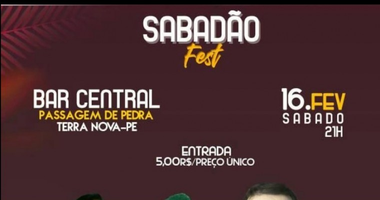 SABADÃO FEST 16. FEV EM TERRA NOVA-PE