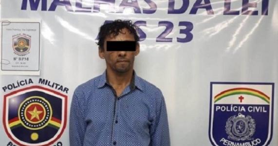 Policiais Militares e Civis de Salgueiro prendem acusado de estupro