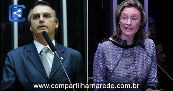 Ministro do STF mantém decisão que mandou Bolsonaro indenizar Maria do Rosário em R$ 10 mil