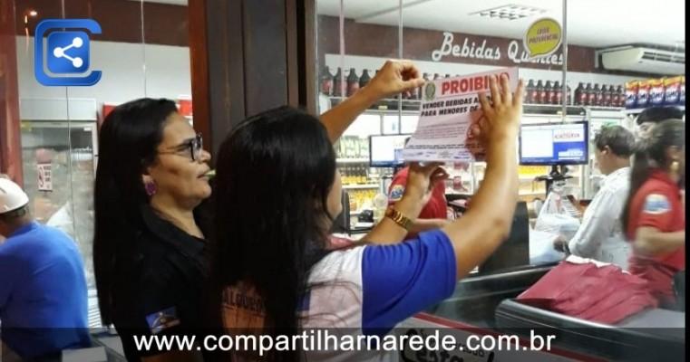 Prefeitura de Salgueiro realiza campanha sobre a proibição da venda de bebidas alcoólicas a menores de idade