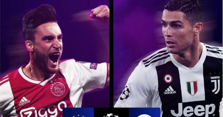 Juventus de CR7 enfrentará o Ajax nas quartas de final da Liga dos Campeões