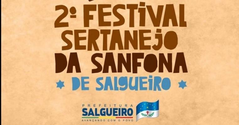 INSCRIÇÕES DE 10 A 26 DE ABRIL 2° FESTIVAL SERTANEJO DA SANFONA DE SALGUEIRO-PE