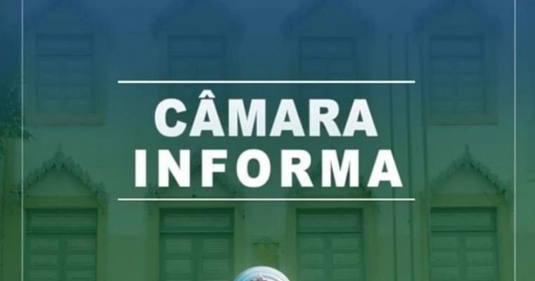 Comunicacão da Câmara de Salgueiro informa a não realização de sessão na próxima sexta(19)