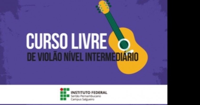 IF Campus Salgueiro divulga resultado da seleção para turmas de violão e técnica vocal