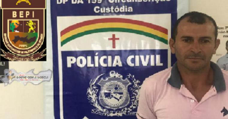 Policiais prendem acusado de estuprar garota de 11 anos em Custódia, no Sertão