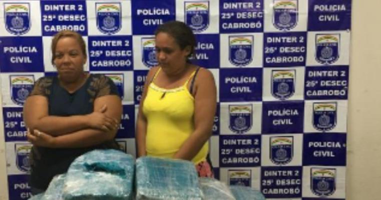 Cabrobó – Policiais Civis prendem duas mulheres com quase 30 Kg de maconha no Terminal Rodoviário