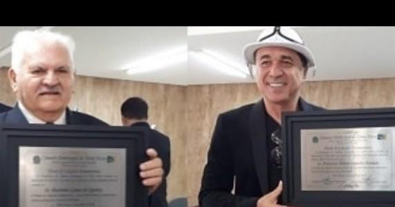Câmara de Terra Nova entrega títulos de cidadão FLÁVIO LEANDRO E SR MARTINS