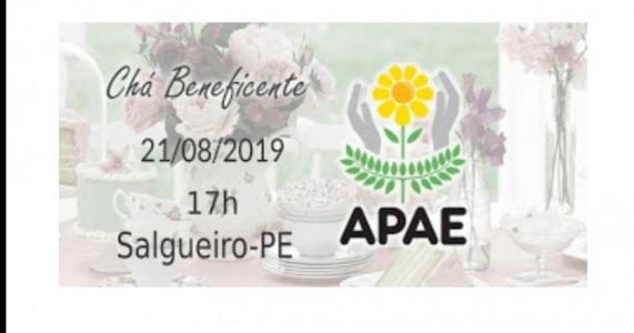 """""""Chá das Cinco da APAE Salgueiro"""" iniciará às 17h na sede da entidade, nesta quarta(21)"""