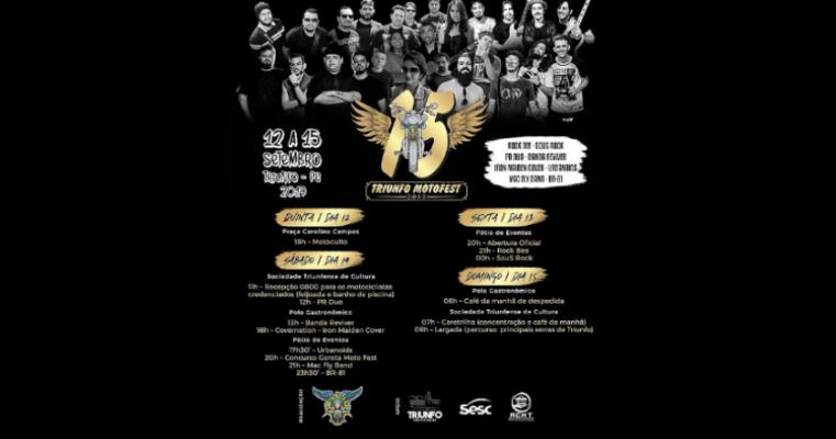15º Triunfo Moto Fest acontecerá entre os dias 12 e 15 de setembro