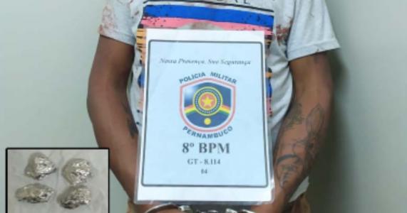 Salgueiro-PE: Homem é detido com Pedras de Crack no Loteamento Novo Horizonte