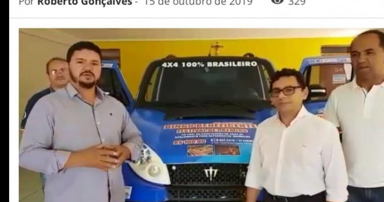 Antônio Souza, através do Grupo Ferreira Souza faz doação de um Jipe Stark 4×4 para um bingo beneficente em Araripina (PE)