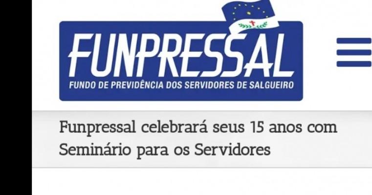 Funpressal celebrará seus 15 anos com Seminário para os Servidores