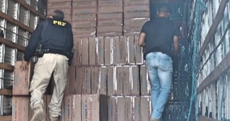 Dupla é detida com carga de cigarro avaliada em R$1 milhão em Petrolina