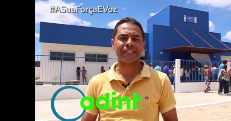 INAUGURAÇÃO DA UBS - Residencial Santo Antônio. Ex vereador Vadinho parabeniza aos moradores.