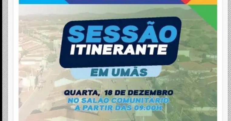 Câmara de Vereadores de Salgueiro realiza última sessão ordinária de 2019 em Umãs