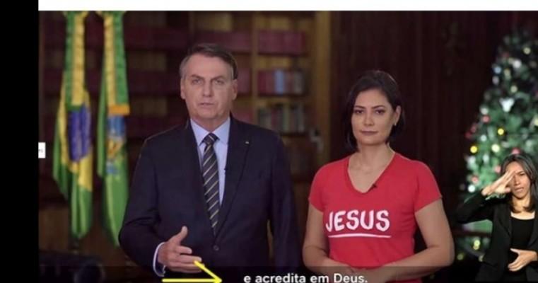 Bolsonaro e Michelle exaltam o nome de Jesus