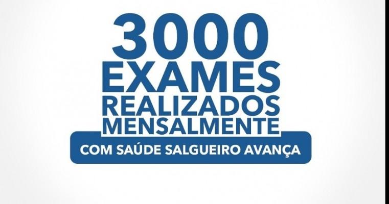 SALGUEIRO; 300 EXAMES  REALIZADOS MENSALMENTE