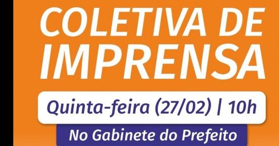 COLETIVA DE IMPRENSA COM O PREFEITO CLEBEL CORDEIRO DE SALGUEIRO PE