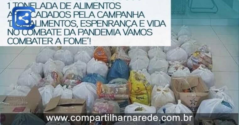 A câmera municipal de Salgueiro-PE doou mas de 1 tonelada de alimentos arrecadados