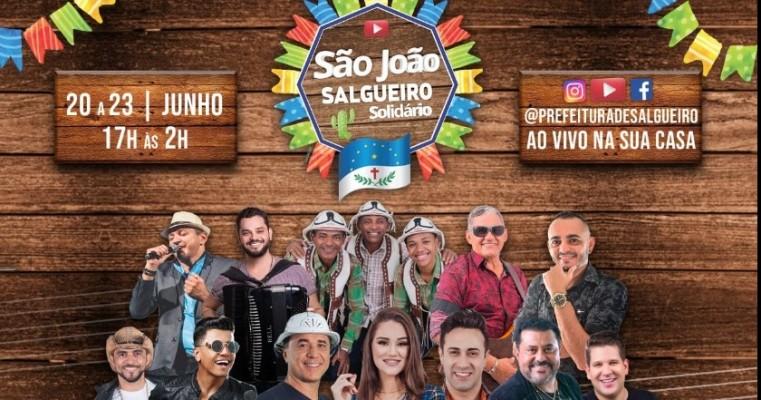 PROGRAMAÇÃO OFICIAL DO SÃO JOÃO SALGUEIRO SOLIDÁRIO 2020.