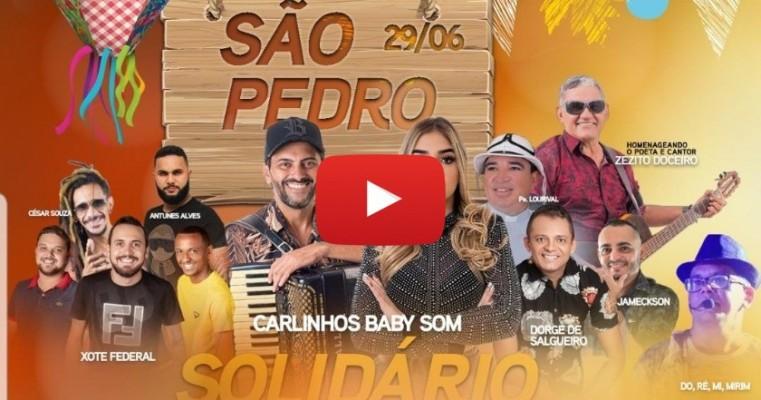 """Organizadores comemoram sucesso da live """"São Pedro Solidário dos Amigos de Salgueiro"""""""