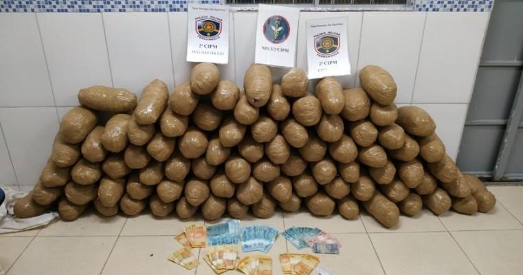Cabrobó-PE operação prendem homens com 87,65 kg de maconha e associação para o tráfico de droga
