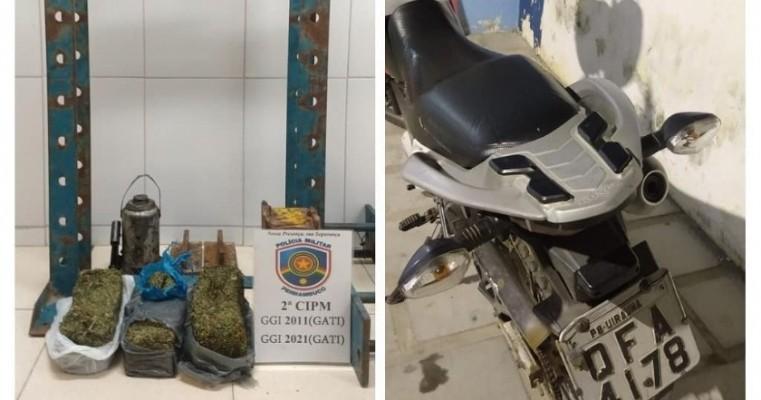 Orocó-PE polícias do GATI da 2°CIPM prendem homens em Flagrante por tráfico de drogas 2,954 kg de maconha