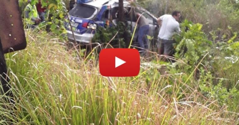 Viatura da polícia militar cai do viaduto de Igarassu na BR-101 veja o vídeo