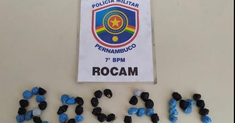 Ouricuri-PE polícias da Rocam prendem homem em Flagrante por tráfico de drogas
